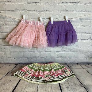 Lot of 3 (2 Tutu) Skirt 3T Epic Threads Lindex